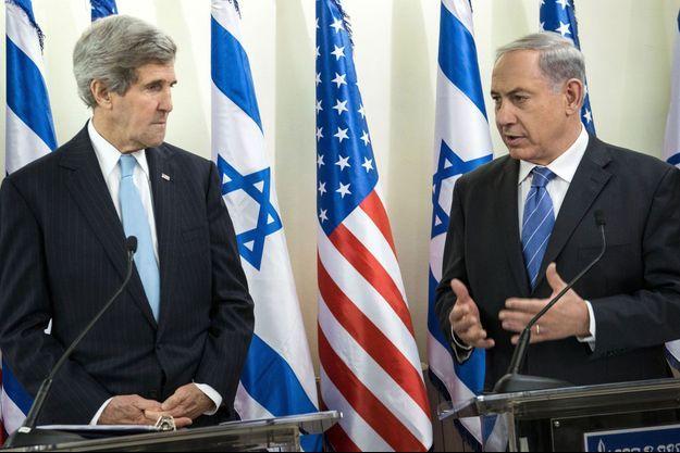 John Kerry lors de son déplacement en Israël début janvier