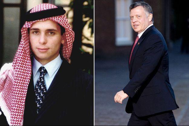 Le demi-frère du roi Abdallah II de Jordanie, le prince Hamza et le roi Abdallah II.