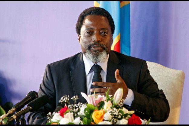 Jospeh Kabila, président de la RDC en conférence de presse à Kinshasa le 26 janvier 2018.