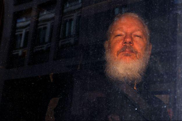 Julian Assange à son arrestation.