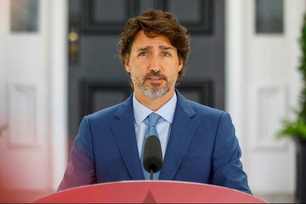 Le Premier ministre canadien Justin Trudeau, en juillet 2020.
