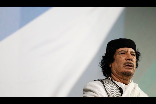 Mouammar Kadhafi en août 2010.
