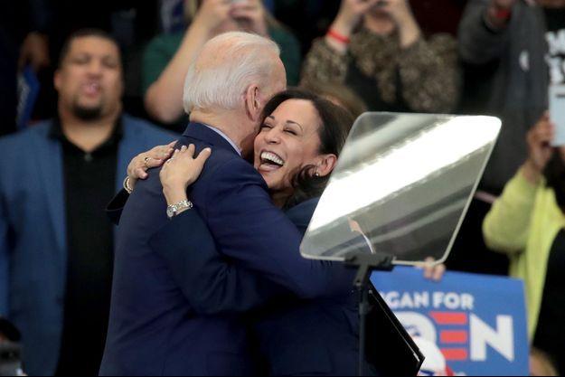 Joe Biden et Kamala Harris le 9 mars 2020.
