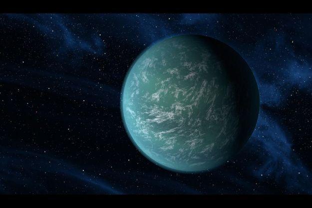 Une vue d'artiste de Kepler-22b