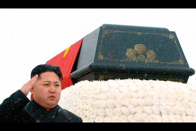 Kim Jong-un, lors des funérailles de son père.