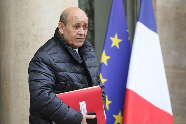 Jean-Yves Le Drian à l'Elysée le 11 décembre.