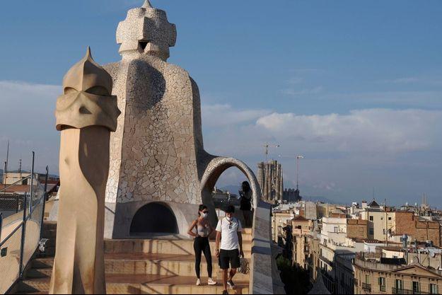 Touristes à Barcelone, le 24 juillet 2020.