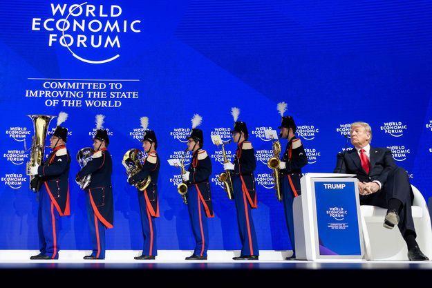 Donald Trump à Davos, le 26 janvier 2018