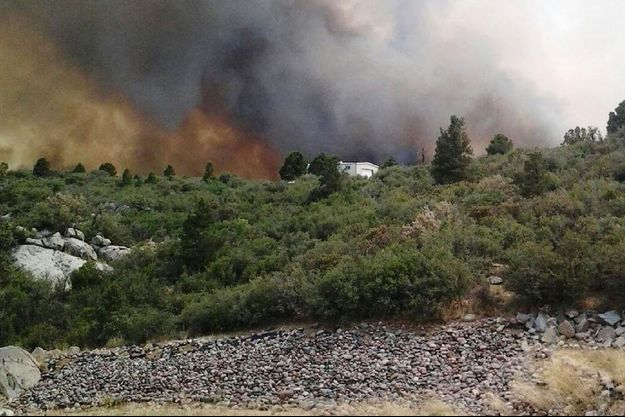 Le feu a dévasté la ville de Yarnell.