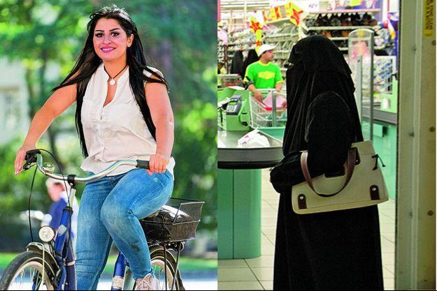 Fini le port du niqab. Aujourd'hui, la jeune femme peut pédaler librement dans les rues de Cologne. Ce vélo, dont elle a été privée, enfant, symbolise sa nouvelle liberté.