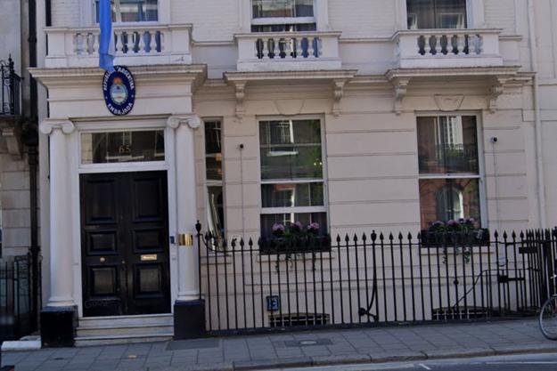 Ambassade de l'Argentine à Londres.
