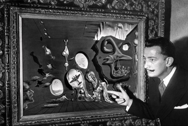 Salvador Dali, en 1947 à New York.