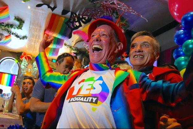 Les Australiens ont massivement voté en faveur du mariage gay.