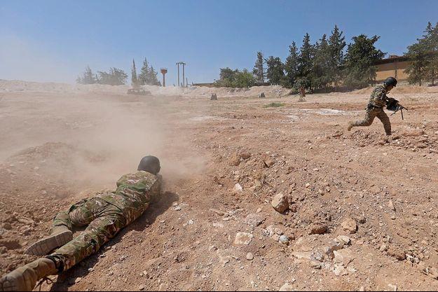 Des rebelles syriens à Idleb, le 3 septembre 2018.