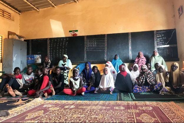 Dans une salle de classe d'une école du quartier de Danzama Kouara, à Niamey.
