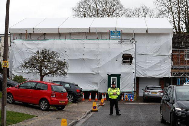 La maison de l'ancien espion russe Sergueï Skripal à Salisbury, en Grande-Bretagne, en mars 2019.