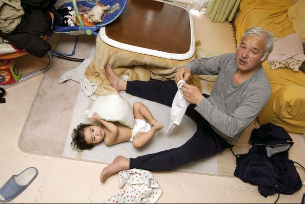 Naoaki avec son papa.