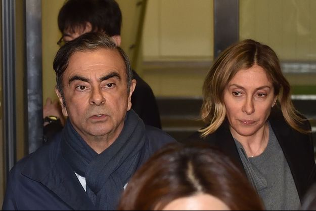 Carlos Ghosn et son épouse Carole, le 3 avril 2019.