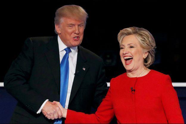 Donald Trump et Hillary Clinton lors du premier débat présidentiel.