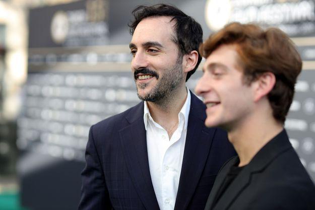 Le réalisateur Levan Akin et Levan Gelbakhiani, acteur principal, le 1er octobre à Zurich.