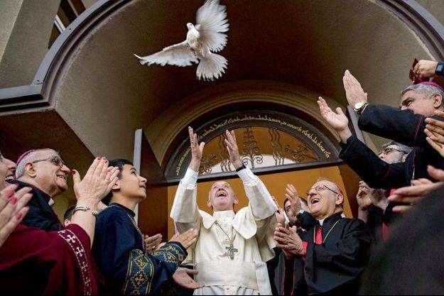 Le pape François à Tbilissi, vendredi 30 septembre