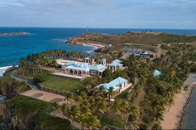 L'île privée de Jeffrey Epstein, Little Saint-James, sur un cliché diffusé mardi.