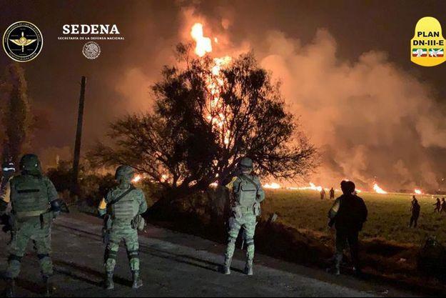L'incendie de l'oléoduc s'est produit dans la localité de Tlahuelilpan.