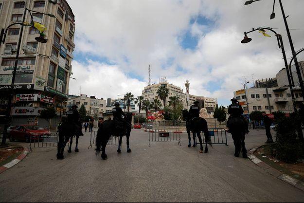 Le confinement a été déclaré à Ramallah, ici le 7 avril 2020.