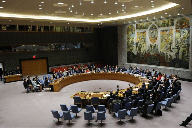 Le Conseil de sécurité de l'ONU, samedi à New York.