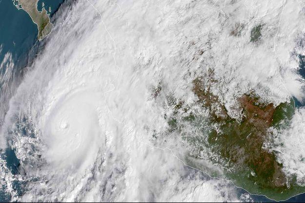 L'ouragan Willa vu depuis le ciel.