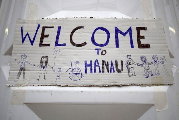 Un gymnase accueillant des réfugiés à Hanau en Allemagne.