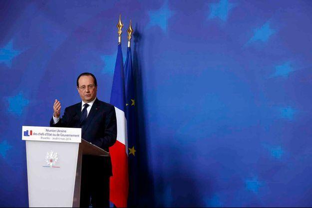 François Hollande, à Bruxelles jeudi.