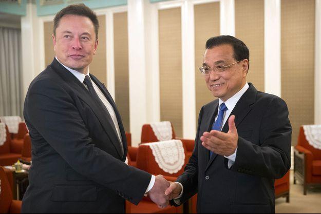 Elon Musk a rencontré mercredi le Premier ministre chinois Li Keqiang à Pékin.