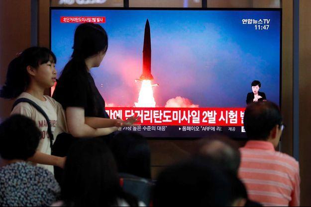 Selon la Corée du Sud, la Corée du Nord a tiré deux nouveaux missiles.