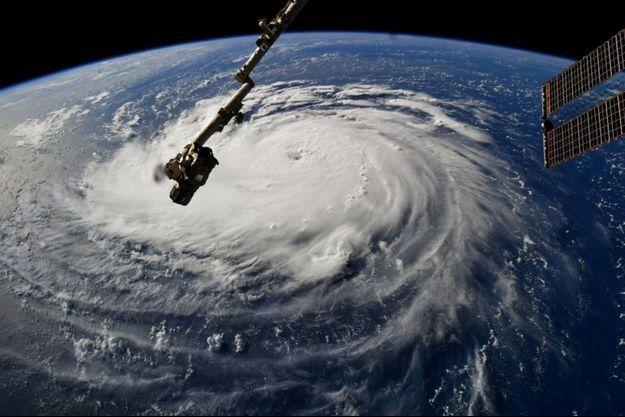 L'ouragan Florence photographié depuis la Station spatiale internationale.