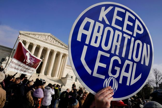 Des manifestants pro-avortement à Washington le 18 janvier dernier.