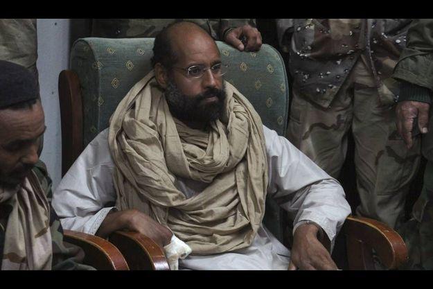 Seif Al-Islam Kadhafi, peu après sa capture.