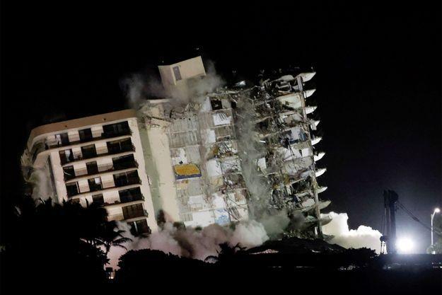 L'immeuble effondré en Floride.