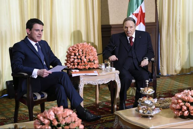 Le Premier ministre français Manuel Valls et le président algérien Abdelaziz Bouteflika à Alger, le 10 avril dernier.