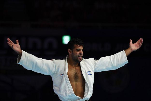Le judoka Sagi Muki à Tokyo en août 2019.