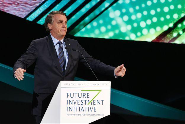 Jair Bolsonaro en Arabie saoudite, mercredi.
