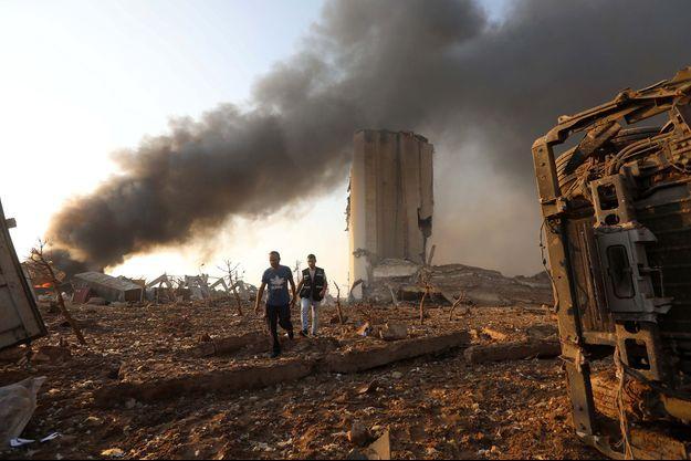 La zone du port de Beyrouth a été soufflée par l'explosion.