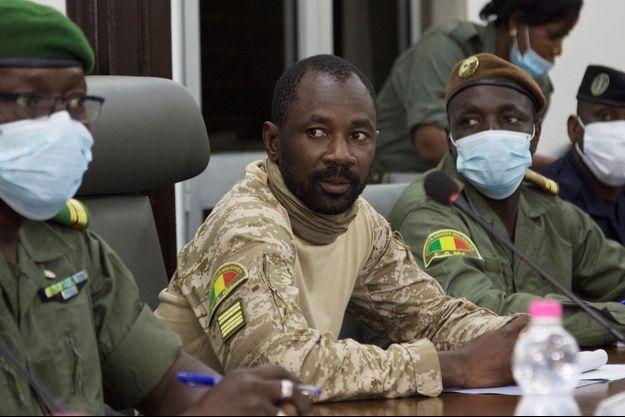 Le chef de la junte, le colonel Assimi Goïta, le 22 août 2020.