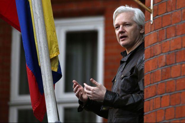 Julian Assange, à l'ambassade de l'Equateur à Londres, en mai 2017