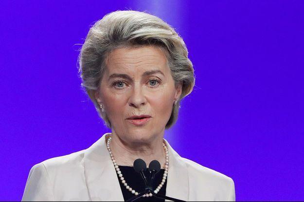 Ursula von der Leyen à Rome, mardi.