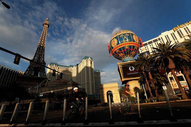 Las Vegas vidée de ses touristes, le 10 avril 2020.