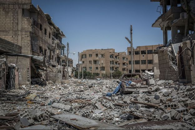 Raqqa, juillet 2017.