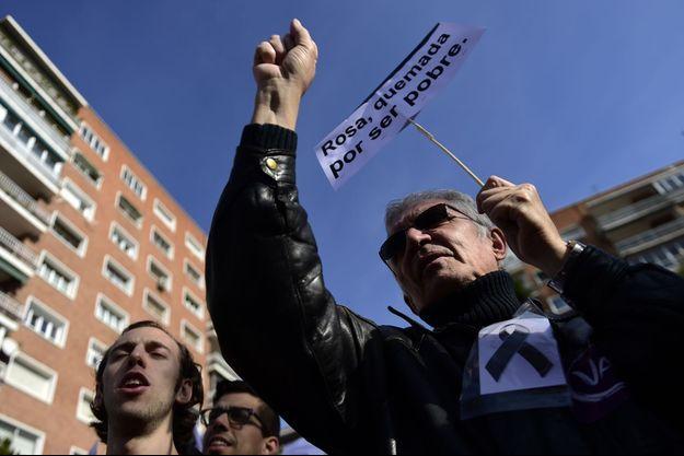 Manifestation à Madrid, le 19 novembre 2016.