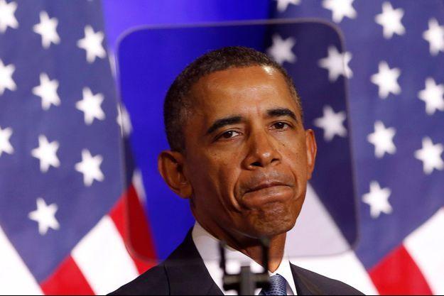 Obama lors de son discours sur la reforme des pratiques de surveillance de l'Agence de sécurité nationale (NSA).