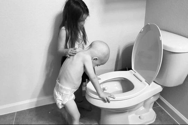 Aubrey et Beckett sur la photo devenue virale.
